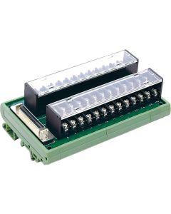 DIN-50S-01 Anschlusskarte mit 50-poliger SCSI-2-Buchse