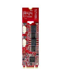 EGPC-B201-Serie Schnittstellenkarte M.2 auf 2x isolierte CANbus 2.0 / J1939 Modul