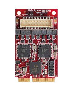EMPL-G203-W1 Schnittstellenkarte mPCIe auf 2x GbE LAN Modul, erweiterter Temperaturbereich