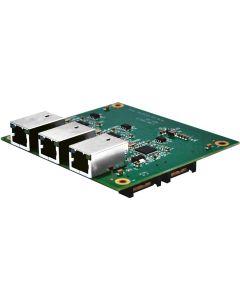 LSM-100-3: SUMIT- und PCI-Express-kompatible Ethernet-Erweiterungskarte