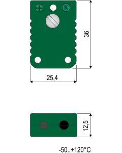 0220 007 7 Thermoelement-Kupplung Typ U