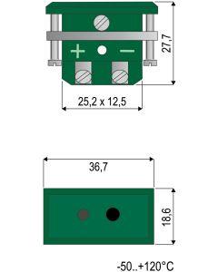 0220 022 4 Thermoelement-Kupplungsdose Typ N