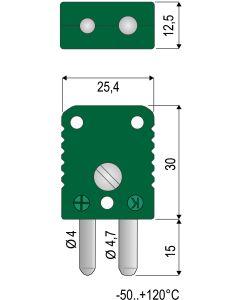 0220 007 6 Thermoelement-Stecker Typ U