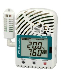 TR-76Ui: 3-Kanal USB-Datenlogger für Temperatur-, Feuchte- und CO2-Messungen